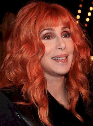 "Cher looks straight ahead at a bright future during the premiere of her movie ""Burlesque."""