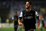 Malaga's Isco celebrates after scoring during their Champions League match against Zenit St. Petersburg on September 18. Malaga, although not playing at their best, held on for a 0-0 draw last weekend against an Athletic Bilbao side