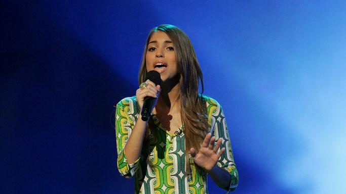 Antonella Barba performs in front of the judges on the 6th season of American Idol.