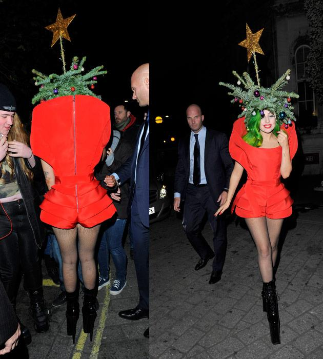 lady gaga, gaga Christmas tree