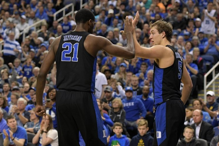 Luke Kennard and Amile Jefferson have Duke as the team to beat in the ACC, if not in all of college basketball. (Getty)