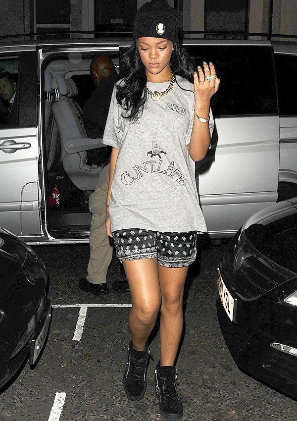 Rihanna Steps Out In A C-Word Shirt — It's Her Rudest Outfit Yet