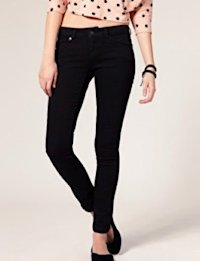 Super Soft Black Overdye Skinny Jeans