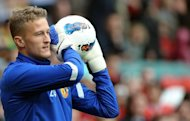 Denmark goalkeeper Anders Lindegaard, seen here in 2011, has signed a new four-year contract with Manchester United