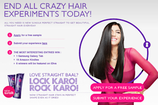 After The Straight Hair Experiment On Social Media, Sunsilk Launches 'Perfect Straight' image Perfect straight blogging contest
