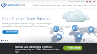 Website Review: 10 Hottest B2B SaaS Companies in 2014 image newvoicemedia resized 600