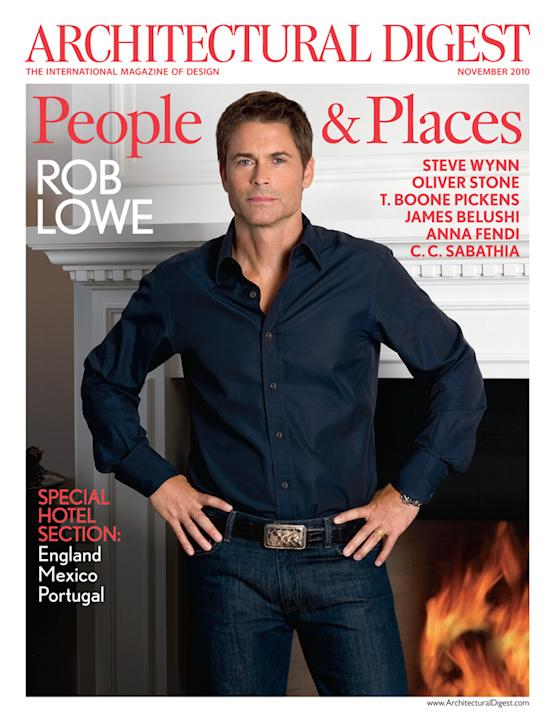 Architectural Digest: Rob Lowe, November 2010