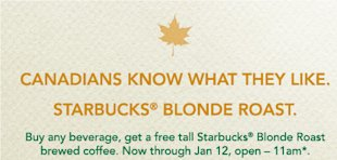 Customizing Your Marketing Message   Case Study: Starbucks Blonde Roast image Starbucks Blonde Ad Canada
