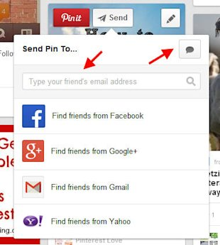 20 Pinterest Tricks And Tips You Might Not Have Discovered image Now Type Your Message and Choose the Person