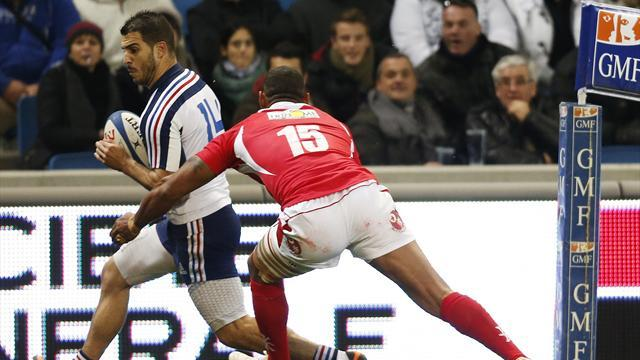 Rugby - Debutant Guitoune makes mark for France in Tonga defeat