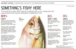 Something's Fishy Here: WSJ Sentiment Tracker by NetBase image NetBase WSJ Analysis Fish Fraud