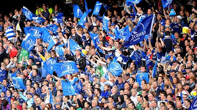 Leinster fans show there support