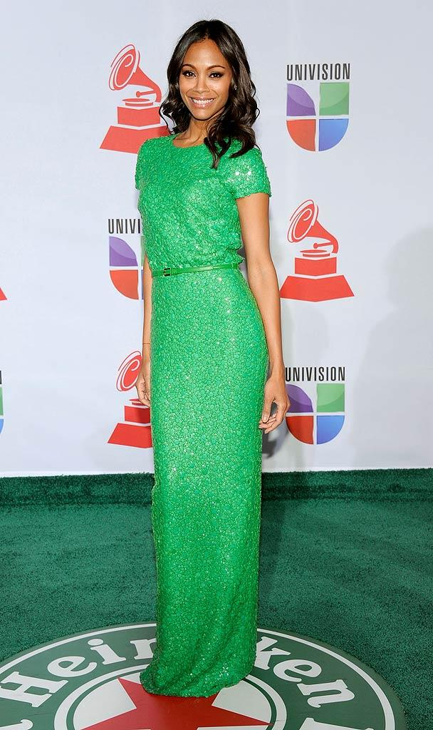 Zoe Saldana Latin Grammy Awards