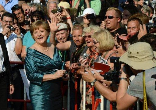Merkel was praised by German media for her fashion choice