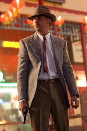 "This film image released by Warner Bros. Pictures shows Ryan Gosling as Sgt. Jerry Wooters in ""Gangster Squad."" (AP Photo/Warner Bros. Pictures, Jamie Trueblood)"