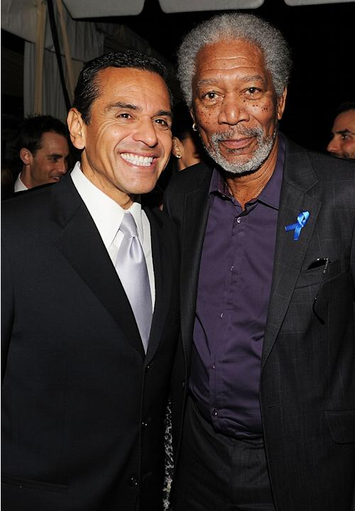Hollywood Reporter Reception Honoring Oscar Nominees 2010 Antonio Villaraigosa Morgan Freeman