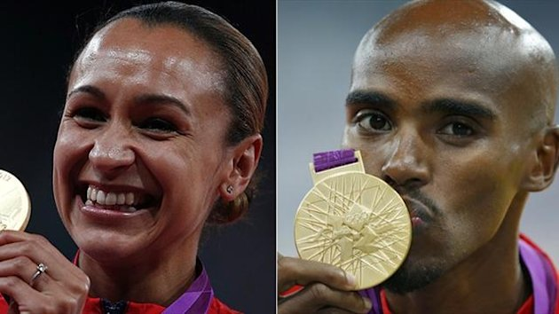 Jessica Ennis and Mo Farah (Reuters)