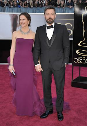 Jennifer Garner, left, and Ben Affleck arrives at the Oscars at the Dolby Theatre on Sunday Feb. 24, 2013, in Los Angeles. (Photo by John Shearer/Invision/AP)