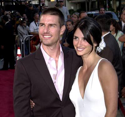 Tom Cruise and Penelope Cruz at the Beverly Hills premiere of Universal's Captain Corelli's Mandolin