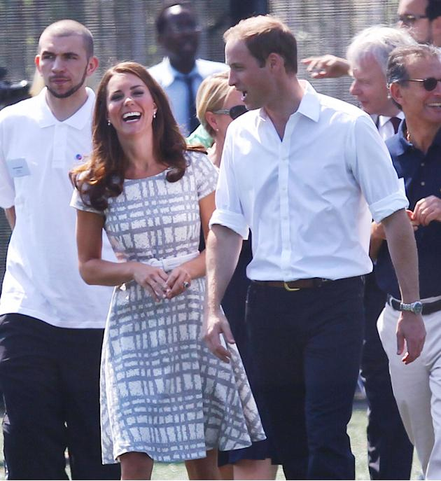 Catherine, Duchess of Cambridge aka Kate Middleton and Prince William, Duke of Cambridge at Bacons College London, England - 26.07.12 Mandatory Credit: WENN.com