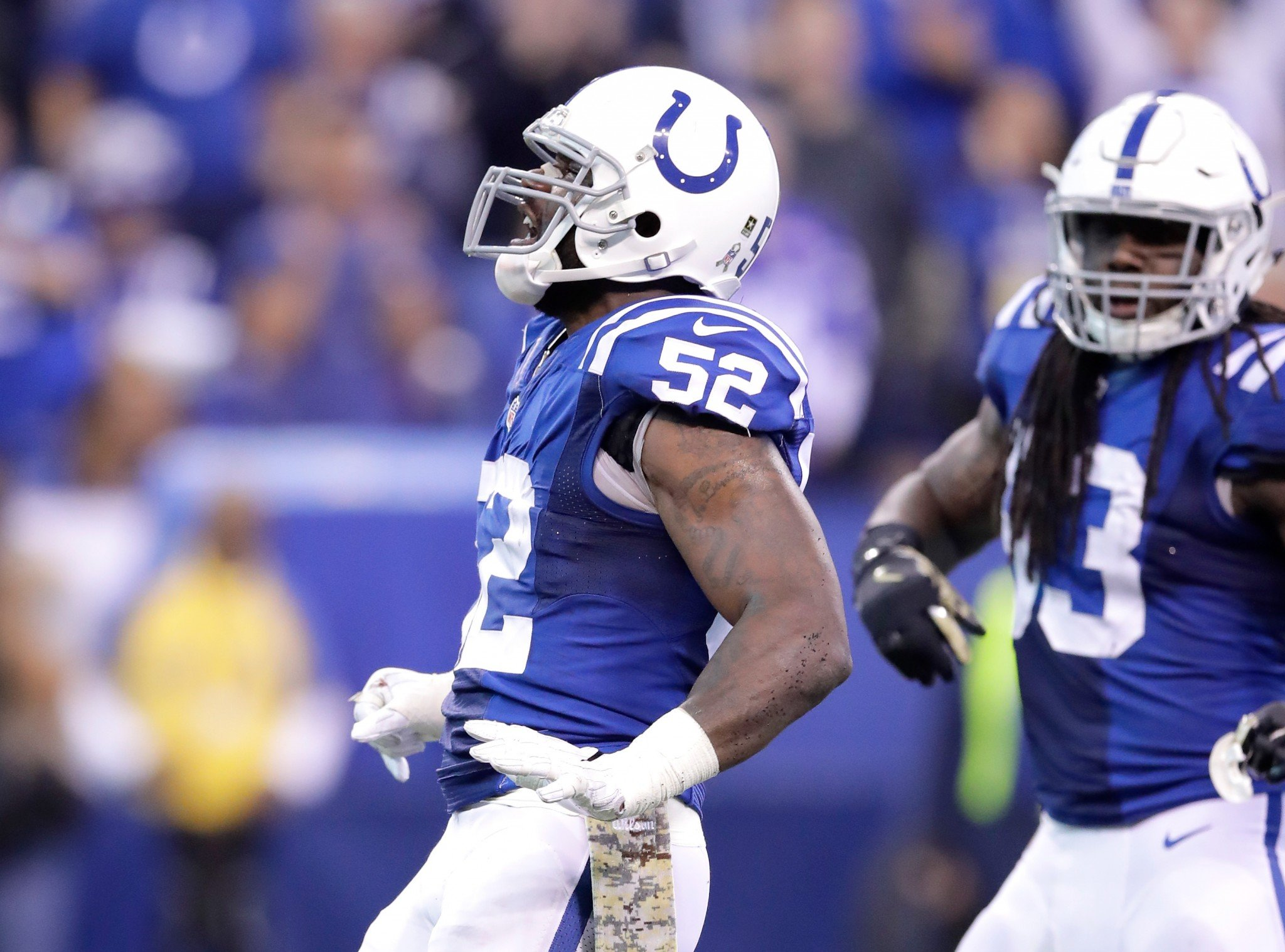 Colts LB D'Qwell Jackson is suspended for the next four games. (Getty Images)