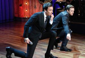 Jimmy Fallon and Justin Timberlake | Photo Credits: Ira James/NBC