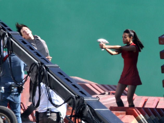 Benedict Cumberbatch and Zoe Saldana