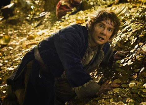 Martin Freeman as Bilbo in The Desolation of Smaug