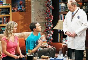 Kaley Cuoco, Jim Parsons and Bob Newhart | Photo Credits: Michael Yarish/Warner Bros