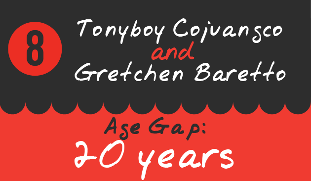 8. TonyboyCojuangco and Gretchen Baretto, Age Gap: 20 years