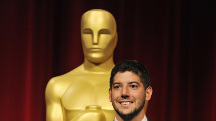 "Filmmaker Rafael Cortina of Occidental College in Los Angeles, a nominee in the Alternative Category for his film ""Bottled Up,"" poses before the Academy of Motion Picture Arts and Sciences 40th Student Academy Awards at the Samuel Goldwyn Theater on Saturday, June 8, 2013 in Beverly Hills, Calif. (Photo by Chris Pizzello/Invision/AP)"