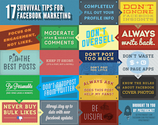 Online Marketing: Are You Making Money with Your Facebook Ads? image 17 Survival Tips For Facebook Marketing Infographic infographicsmania
