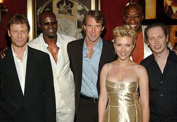 Sean Bean , Djimon Hounsou , director Michael Bay , Scarlett Johansson , Michael Clarke Duncan and Steve Buscemi at the New York premiere of Dreamworks' The Island