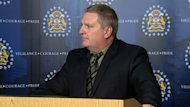 Calgary Police Staff Sgt. Tom Hanson updates media on Thursday about drug trends in the city.