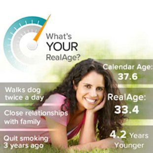 Receive a custom action plan to get healthier and grow younger. Take the RealAge Test.