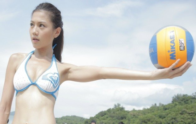 "Chrissie Chau, Hong Kong's ""Million Dollar Babe"" stars in upcoming beach volleyball drama, Beach Spikes. (Photo Courtesy of SPRG)"
