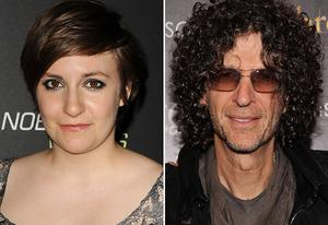 Lena Dunham, Howard Stern | Photo Credits: Jason LaVeris/FilmMagic;  Stephen Lovekin/Getty Images
