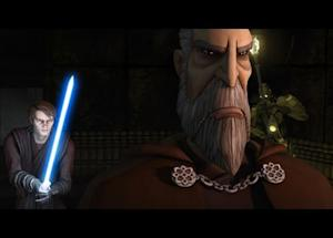 "Anakin Skywalker and Count Dooku in ""Star Wars: The Clone Wars."" Used with permission from Lucasfilm."