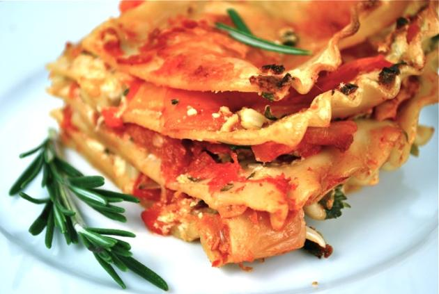 Roasted Red Pepper Lasagna