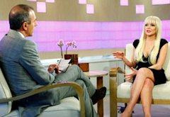 Matt Lauer and Lindsay Lohan | Photo Credits: Peter Kramer/NBC