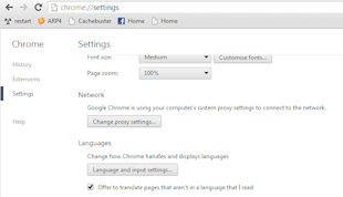 change default google chrome language