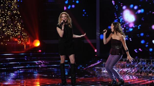 LeAnn Rimes and Carly Rose Sonenclar perform on 'The X Factor,' dec. 19, 2012 -- FOX