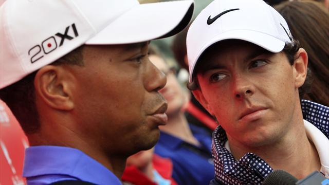 Golf - McIlroy and Woods overshadowed by Kaymer