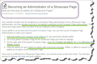 LinkedIn Announces New Showcase Pages: Great For Law Firms image Showcase Pages How to become an admin 11 18 2013 9 49 25 PM