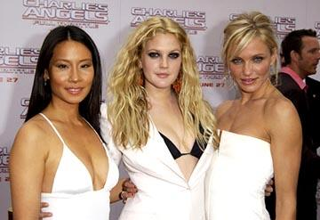 Premiere: Lucy Liu, Drew Barrymore and Cameron Diaz at the LA premiere of Columbia's Charlie's Angels: Full Throttle - 6/18/2003