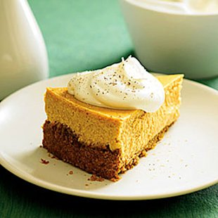 Roasted Sweet-Potato Cheesecake with Maple Cream