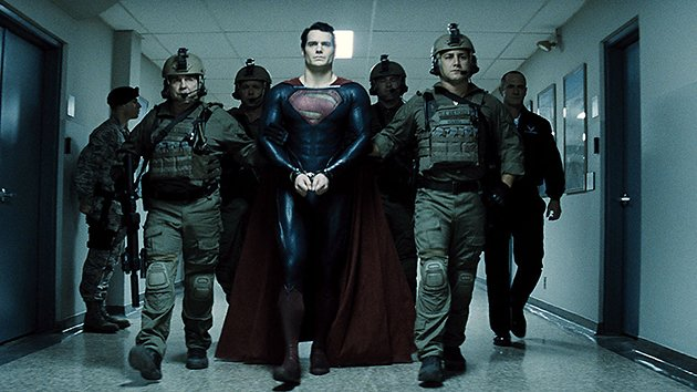 Superman, handcuffed in 'Man of Steel'