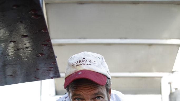 Host Mike Rowe  at the Starmont Winery in Napa, California. in Dirty Jobs.