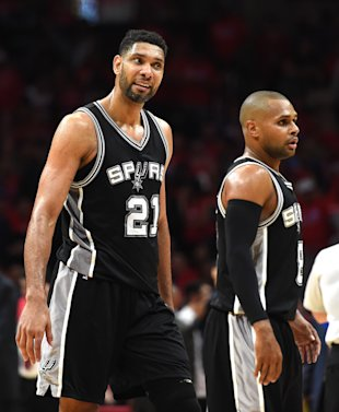 Tim Duncan can't believe it. (Harry How/Getty Images)