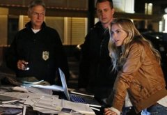 Mark Harmon, Sean Murray, Emily Wickersham | Photo Credits: Cliff Lipson/CBS